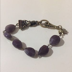 NWOT lucky brand Buddha and amethyst bracelet